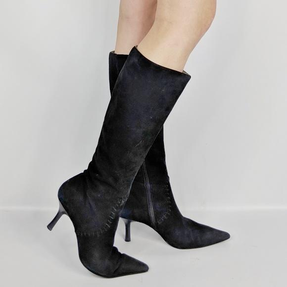 Nordstrom Krystal Black Suede Boot